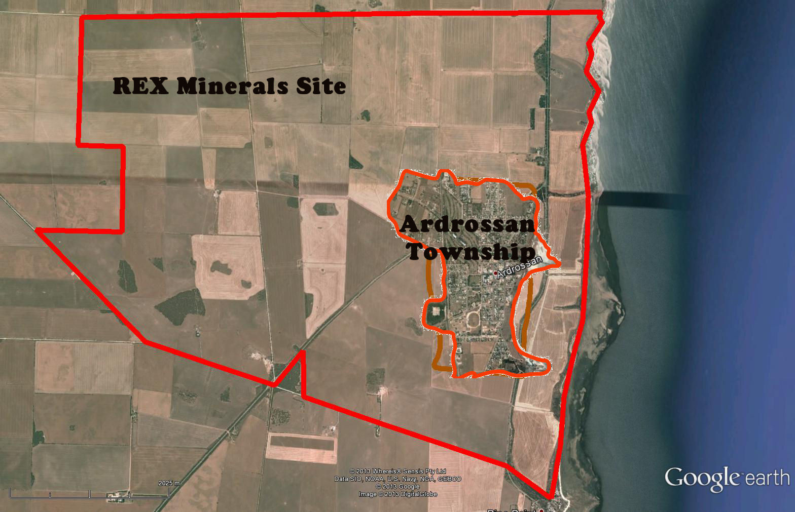 Rex Site Ardrossan township within