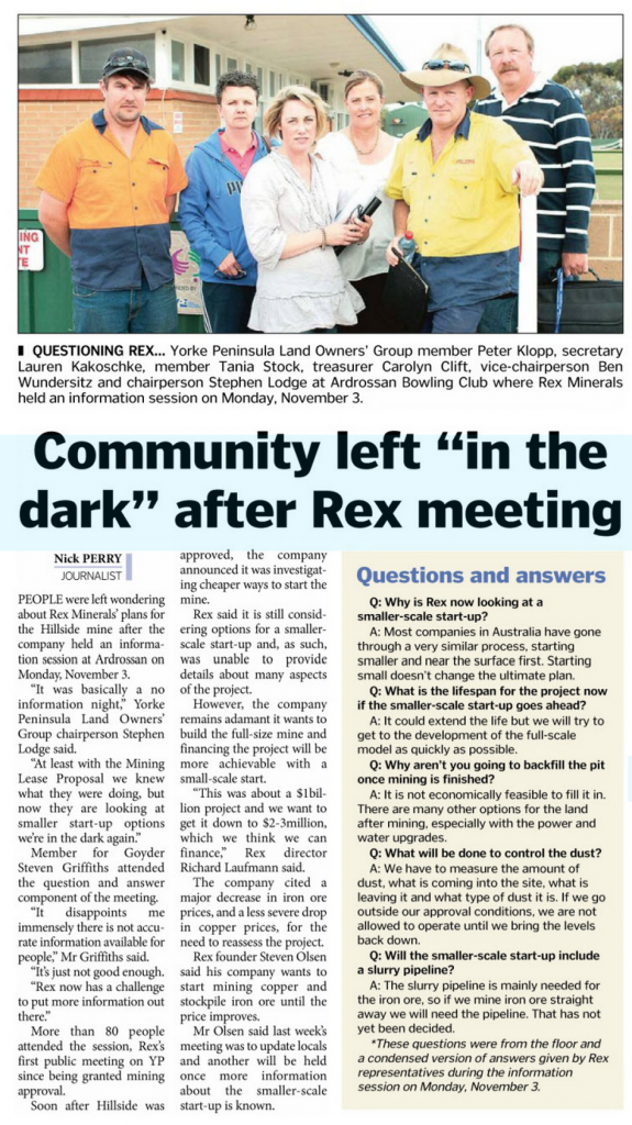 Yorke Peninsula Country Times   November 11  2014  Page 6