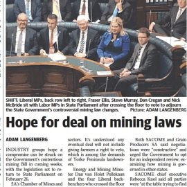 Hope for deal on mining laws
